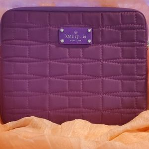 KATE SPADE QUILTED TABLET SLEEVE PURPLE LIKE NEW